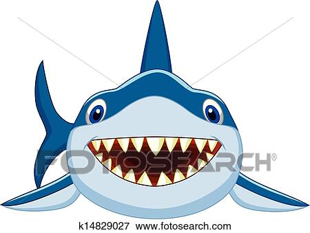 clip art of cute shark cartoon k14829027 search clipart rh fotosearch com  cute shark clipart