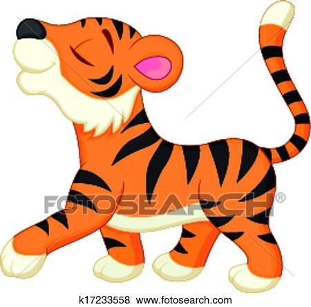 clip art of cute tiger cartoon k17233558 search clipart rh fotosearch com cute tiger clipart vector free download cute tiger clipart vector free download