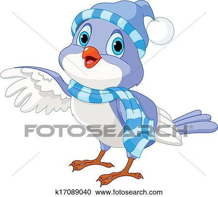 clipart of cute winter bird k17089040 search clip art