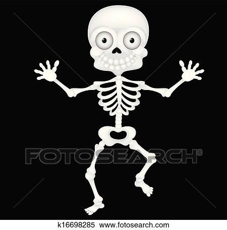 Divertente scheletro cartone animato clipart k