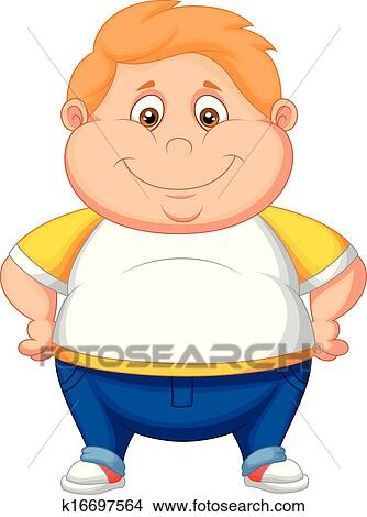 clipart of fat boy cartoon posing k16697564 search clip art rh fotosearch com fat clipart black white fat clipart black white
