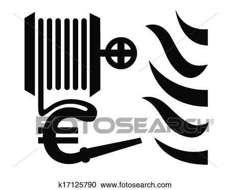 Clipart Of Fire Fighting Symbol Vector K17125790 Search Clip Art