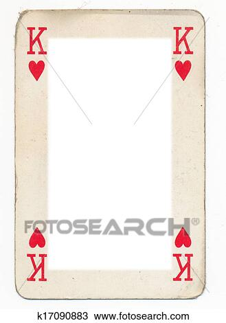 Stock Photo of frame from old king of heart playing card k17090883 ...
