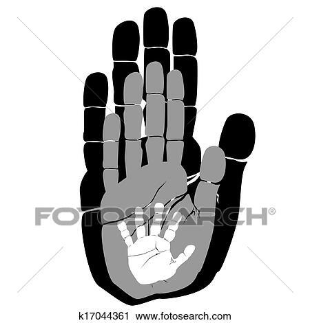 Clipart Of Handprints K17044361