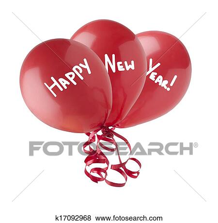 stock illustration happy new year balloons fotosearch search eps clip art drawings