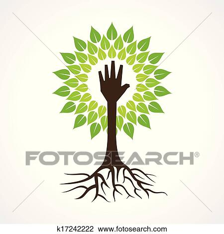 Helping Hand Make Tree Clipart K17242222 Fotosearch