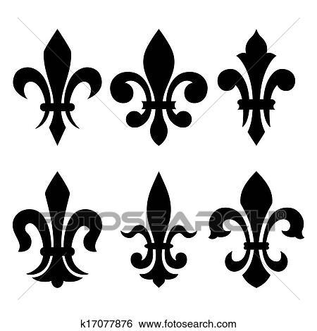 Heraldic Symbols Fleur De Lis Clip Art
