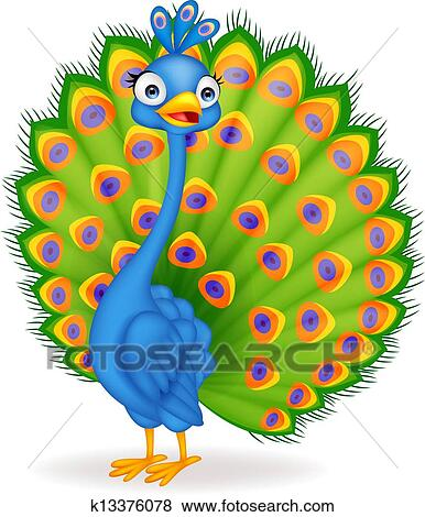 cute peacock clipart