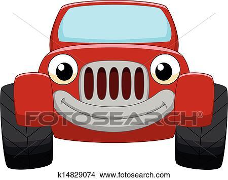 Clipart - voiture rouge, dessin animé k14829074 ...