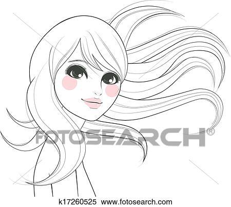 Clipart - stilizzato, donna, disegno k17260525 - Cerca ...