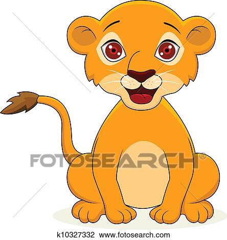 Clipart Lion Bébé Dessin Animé K10327332 Recherchez Des Clip