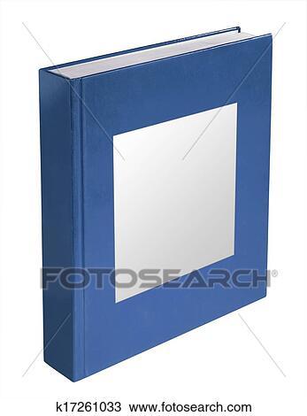 Livre Bleu A Etiquette Isole Dessin