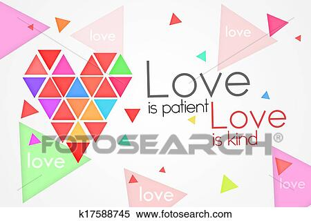 Stock Illustration Of Love Is Patient Love Is Kind K17588745