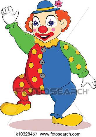 Lustig Clown Karikatur Clip Art