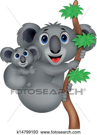 Felice l australia day con un cartone animato koala