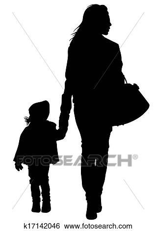 Clip Art Madre E Hija K17142046 Buscar Clip Art Ilustraciones