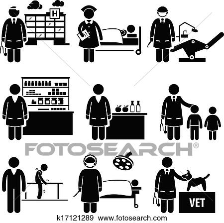 Clip Art Of Medical Healthcare Hospital Jobs K17121289 Search