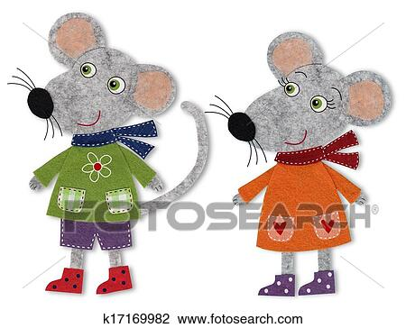 clip art of mice cartoon characters k17169982 search clipart