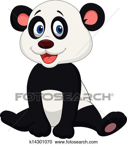 Mignon Bébé Panda Dessin Animé Clipart