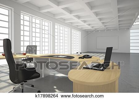 Ufficio Stile Moderno : Archivio fotografico moderno ufficio soffitta stile k