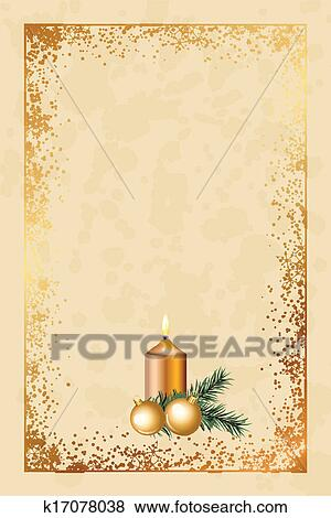 Old Fashioned Christmas Pictures.Old Fashioned Christmas Card Clip Art
