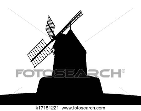 clipart of old windmill silhouette k17151221 search clip art