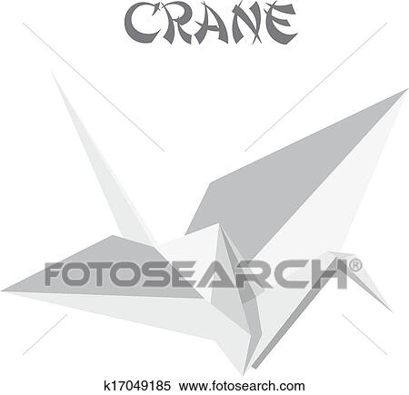 Clipart Of Origami Crane K17049185 Search Clip Art Illustration
