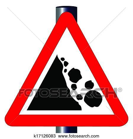 Pericolo Caduta Massi Segnale Stradale Clipart K17126083 Fotosearch