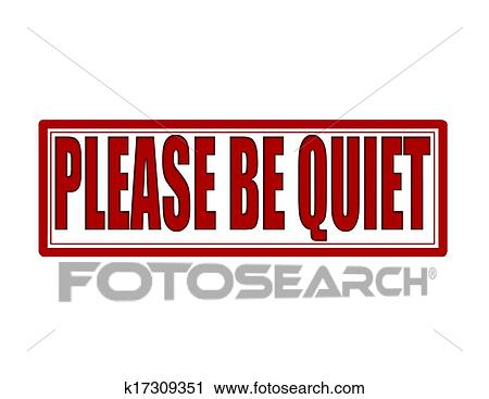 clipart of please be quiet k17309351 search clip art illustration