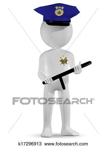 Policier Dessin K17296913 Fotosearch