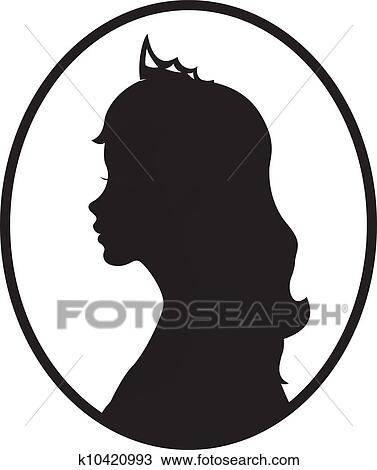 clipart of princess silhouette k10420993 search clip art