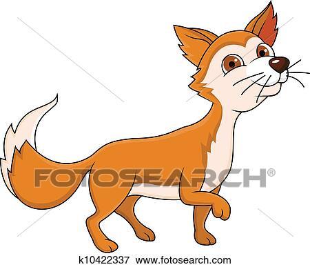 Clipart rigolote renard rouge dessin anim k10422337 - Clipart renard ...