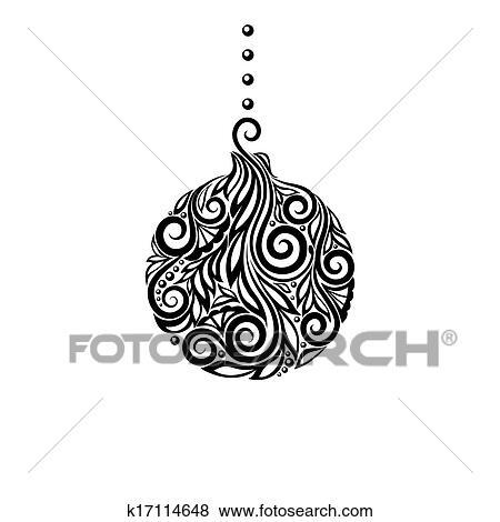 Weihnachten Schwarz Weiß Bilder.Schwarz Weiß Weihnachten Ball Gre Clip Art