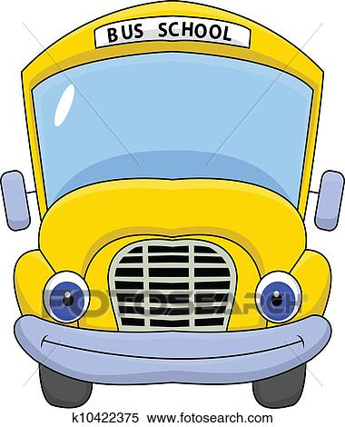Skola Autobus Kresleny Film Charakter Klipart K10422375
