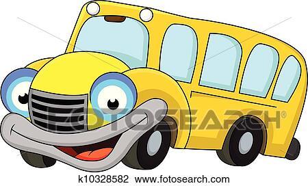 Skola Autobus Kresleny Film Klipart K10328582