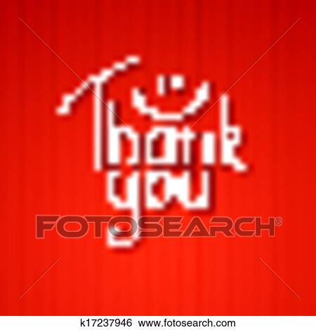 clip art of thank you k17237946 search clipart illustration