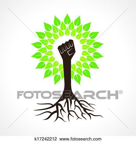 Unity hand make tree Clipart