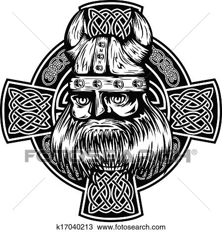Clipart Of Viking And Celtic Cross K17040213 Search Clip Art