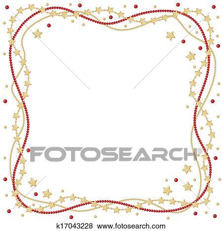 Clip Art Weihnachten Gruß Rahmen K17043228 Suche Clipart