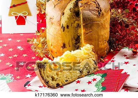 Stock Fotografie Weihnachten Italienischer Kuchen Gerufen