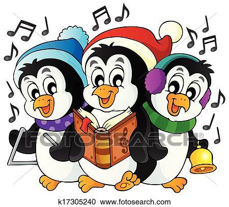 1 Weihnachten.Weihnachten Pinguine Thema Bild 1 Clipart