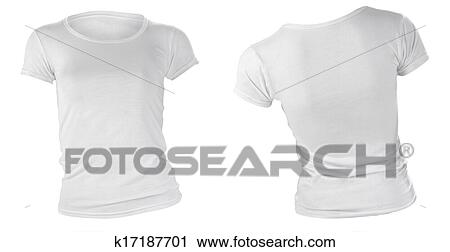 Stock Photography Of Womens Blank White T Shirt Template K17187701