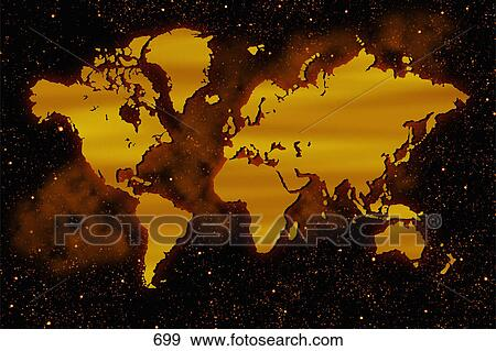 Stock Photograph Of Unmarked Map Of World 699 Search Stock