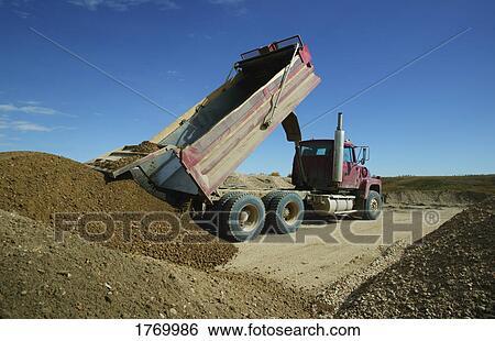 Stock Images Of Dump Truck Unloading 1769986