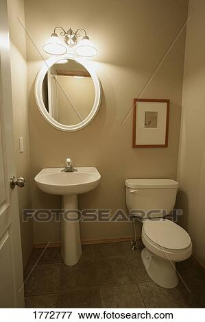Picture of Hand basin and toilet 1772777 - Search Stock Photography ...