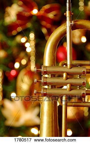 Christmas Trumpet Images.Trumpet At Christmas Time Stock Photo