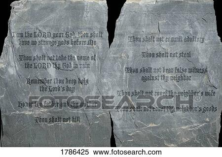 Bon Stock Image   The Ten Commandments On Stone Tablets. Fotosearch   Search  Stock Photos,