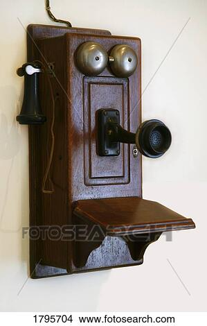 An old-fashioned telephone Picture | 1795704 | Fotosearch