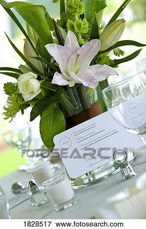 Picture Of Menu Card On Table Next To Flower Vase 1828517 Search
