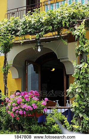 pictures of positano campania italy balcony with flowers and